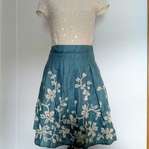 Talbot's Embroidery skirt